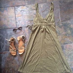 Fade Glory Olive Green Dress/ Cover Up
